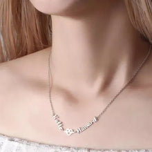 Load image into Gallery viewer, Love Hug With Two Name Necklace