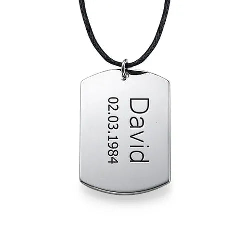 Dog Tag Necklace for Men 2