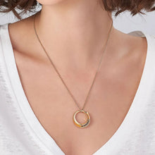 Load image into Gallery viewer, Spiral Open Circle Necklace