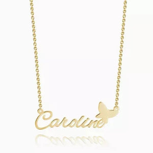 Personalized Name Necklace With Butterfly