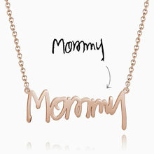 Load image into Gallery viewer, Personalized Handwriting Name Necklace