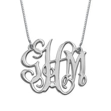 Load image into Gallery viewer, CZ Monogram Necklace