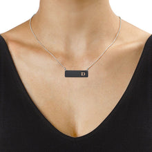 Load image into Gallery viewer, Acrylic Horizontal Bar Necklace with Initial