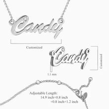 Load image into Gallery viewer, Personalized Name Necklace With Birthstone