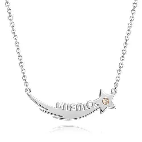 Personalized Moon And Star Style Necklace