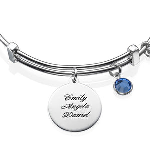 Bracelet with a Family Tree Charm