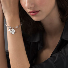 Load image into Gallery viewer, Bangle Charm Bracelet with Clover