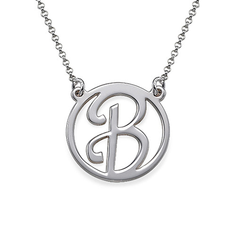 Cut Out Initial Pendant