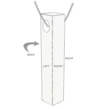 Load image into Gallery viewer, Custom Engraved 3D Bar Necklace Sterling Silver