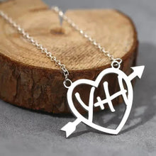 Load image into Gallery viewer, Cupid's Arrow Name Necklace