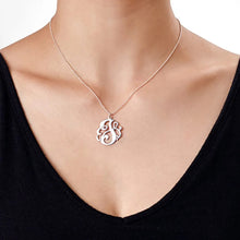 Load image into Gallery viewer, Swirly Initial Necklace