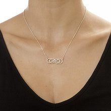 Load image into Gallery viewer, Double Infinity Necklace in Sterling Silver