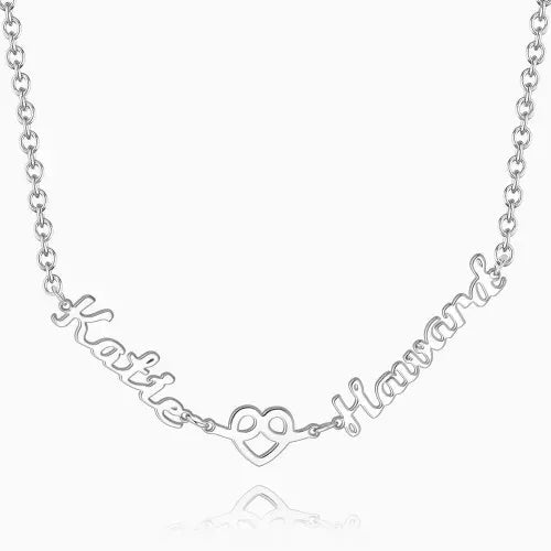 Love Hug With Two Name Necklace