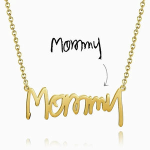 Personalized Handwriting Name Necklace
