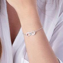 Load image into Gallery viewer, Silver Infinity Bracelet