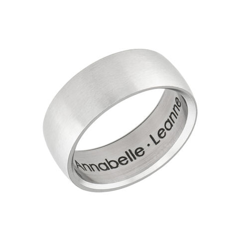 Engraved Men's Classic Band Ring