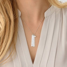 Load image into Gallery viewer, Engraved Vertical Bar Necklace