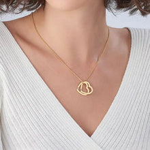 Load image into Gallery viewer, Interlocking Hearts Necklace