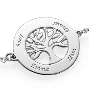 Family Tree Bracelet With Four Names