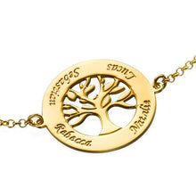 Load image into Gallery viewer, Family Tree Bracelet With Four Names