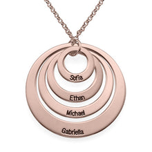 Load image into Gallery viewer, Four Open Circles Necklace with Engraving