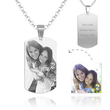 Load image into Gallery viewer, Women's Photo Engraved Tag Necklace