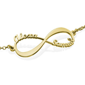 Infinity Bracelet with Two Names