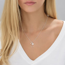Load image into Gallery viewer, Infinity Necklace with Initial charm in Silver