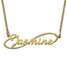 Load image into Gallery viewer, Infinity Style Name Necklace with Gold Plating and Rose Gold Plated
