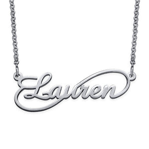Infinity With Cursive Style Name Necklace