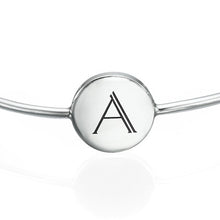 Load image into Gallery viewer, Initial Bangle Bracelet Sterling Silver