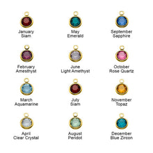 Load image into Gallery viewer, Initial Charm Pendant with Birthstone With One Letters
