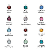 Load image into Gallery viewer, Initial Charm Pendant with Birthstone