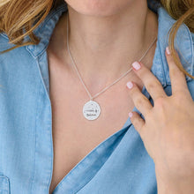 Load image into Gallery viewer, Inspirational Necklace In Silver With Five Style