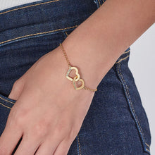 Load image into Gallery viewer, Interlocking Adjustable Hearts Bracelet
