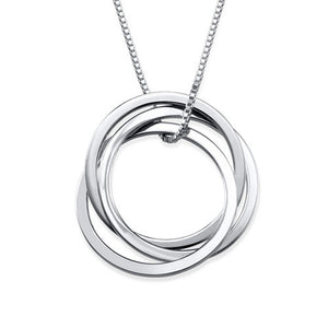 Interlocking Lovers ring necklace