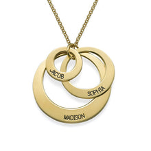 Load image into Gallery viewer, Jewelry for Moms Three Disc Necklace With Three Names