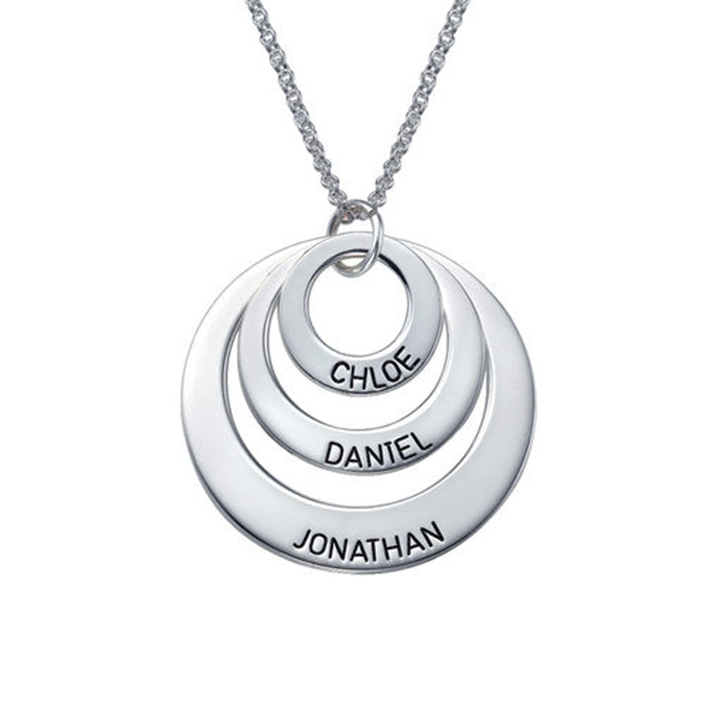 Jewelry for Moms Three Disc Necklace With Three Names
