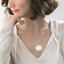 Load image into Gallery viewer, Love Discs Necklace in Silver