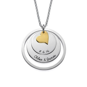 Love Discs Necklace in Silver