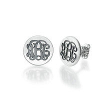 Load image into Gallery viewer, Monogram Stud Earrings Pendant