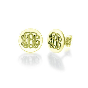 Monogram Stud Earrings Pendant