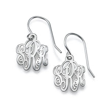 Load image into Gallery viewer, Monogrammed Earrings in Silver