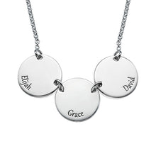 Load image into Gallery viewer, Mother Necklace with Kids Names---Disc-Shaped