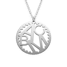 Load image into Gallery viewer, Multi Initials Circle Necklace in Silver Sterling