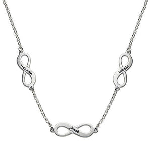 Multiple infinity Necklace 3 Name