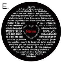 Load image into Gallery viewer, 100 Languages I Love You Projection Necklace Love Knot Pendant