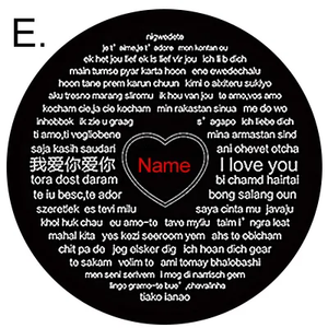 100 Languages I Love You Projection Necklace Heart Shaped Pendant