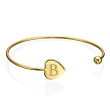 Load image into Gallery viewer, Personalized Bangle Bracelet in Silver and Gold Plated