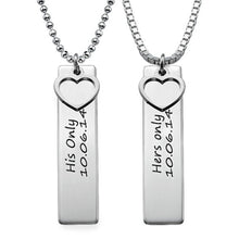 Load image into Gallery viewer, Personalized Bar Necklace for Couples